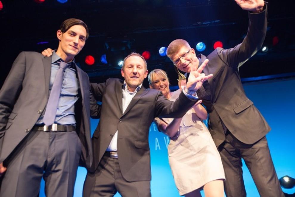 Human Ressources Excellence Award - Team auf der Bühne
