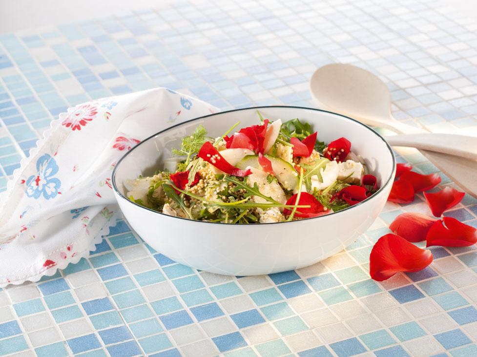 Salat - dekoriert