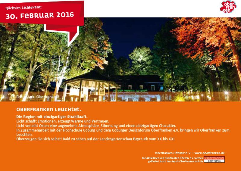 Oberfranken leuchtet Offensiv Anzeige Regional