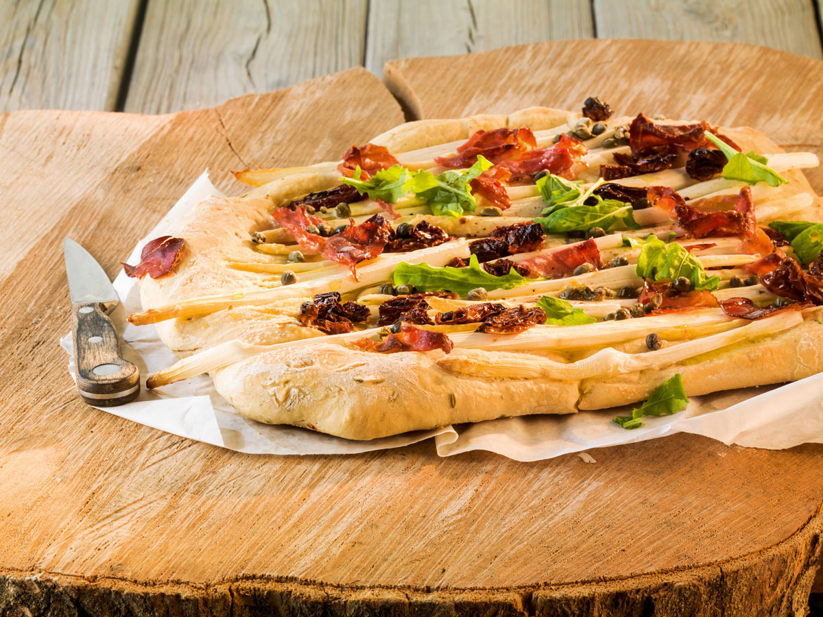Pizza natura - dekoriert
