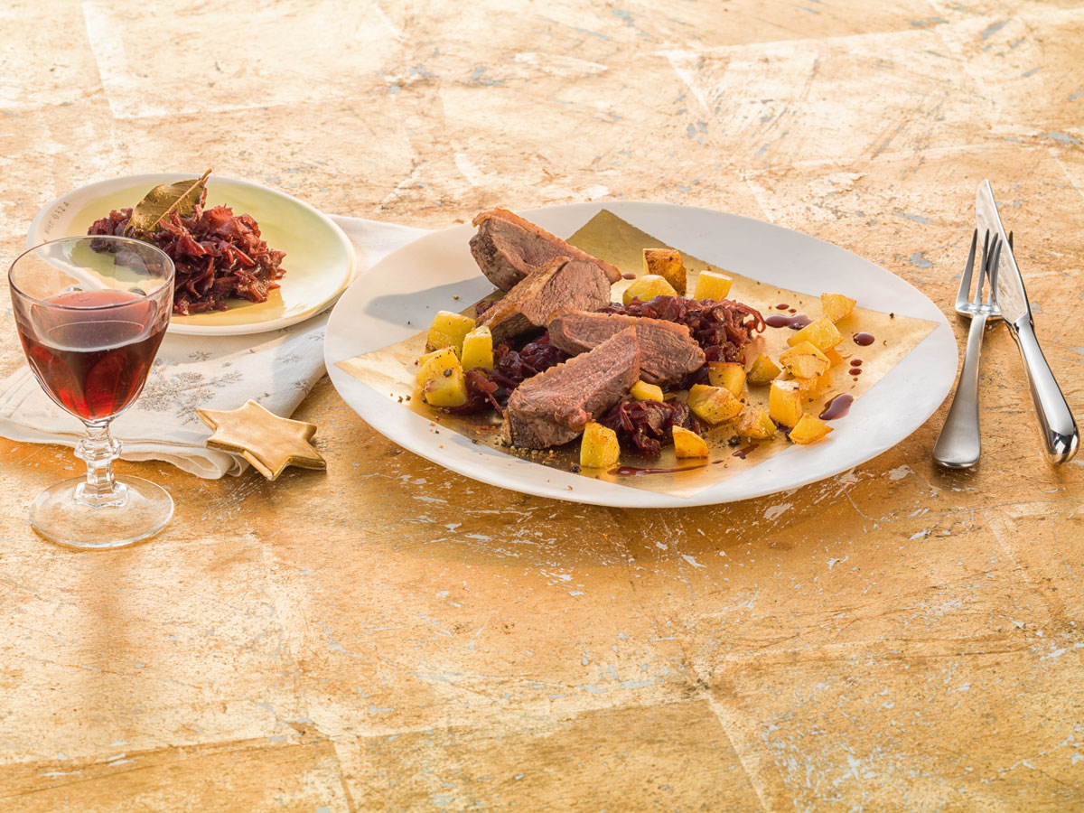 Fleischgericht dekoriert